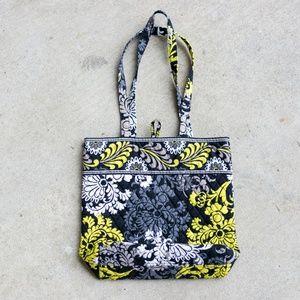 Vera Bradley Tote Bag Yellow + Grey + Black